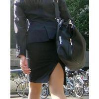 【リクスー】オフィス街で働くタイトスカート女子 その3