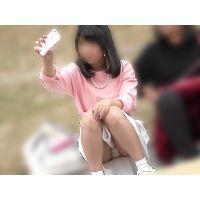 【お花見シリーズ009】 【4K】おシャレさんだけどヨゴレてる美少女