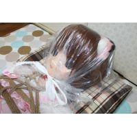Kigurumi suffocation - Calico cat girl -