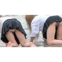裸同然!びしょ濡れパンツと、裸体がくっきりミニスカJKの淫らな水遊び〜その02 (※特別版)