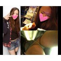 【HD接近逆さ撮り Vol.15-2】S級キャバクラ嬢のデート中生パンチラ(顔有り)