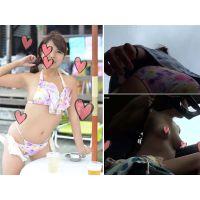 【隠し撮り】○○○○アイドルの着替え隠し撮りとプライベートビーチタイム MさんPart5