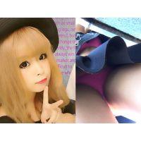 下からガッツリと見えるブラとピッチリパンツの留学生 麗麗ちゃんPart1【逆さ撮り27】