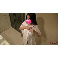 着替え隠撮 ピンクの乳首にFカップ美人 スク水〜ナース服