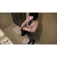 【着替え盗撮】ショートカット、美乳❝Eカップ❞の純朴田舎娘【個人撮影】ホテル着〜制服