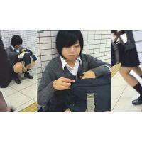 【声かけファイル:003】〜某駅で見つけた激カワ制服学生に声かけ! 女の子の日がバレバレの貴重なお宝シ◯パンチラ