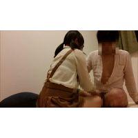 2つ縛りのまじめ系女子大生のベロチュー手コキ!乳首舐め、挿入も!
