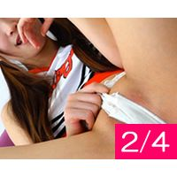 【2/4】美人巨乳とパイパン子ちゃん達@団体ヌード撮影会!