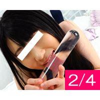 【2/4】パッツン黒髪のロリかわ美女メイン撮り@団体ヌード撮影会!