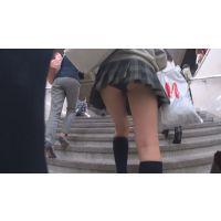 階段盗撮風JKパンチラ動画 K001