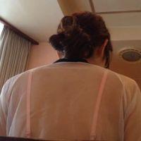 【背中フェチ】透け体操服からブラの紐