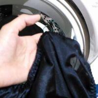 【盗撮】同棲中の彼女の洗濯機の中(私服・下着)をチェック?