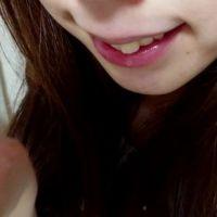 【希少・マニア向け】色白美人お姉さんの『唇・口・舌・歯・唾たらし』のアップ