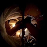 【椅子プレイ】セーラー服コスプレで擦りつけ角オナニー(360度カメラ)