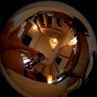 【こんな動画見たことない】360度カメラで見上げる騎乗位