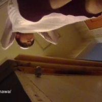 【小型カメラ盗撮】毛糸のパンツ!お風呂の脱衣場