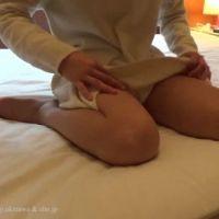 【脚フェチ】素人モデルの足(おしいパンチラ)@個人撮影会