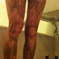 【脚/足フェチ】 脚を泥だらけに・感想付き(メッシー)