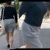 乳房もお尻も大きい着衣様を発見!大密着!