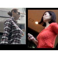 極上の美巨乳対決 セレブ妻vs美人OL 最新2014 着衣巨乳