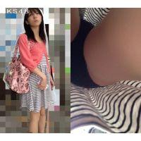 逆さ撮り 爽やか女子大生 S〇E48とかA〇B48にいそうな女の子