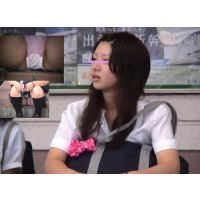 【セット販売.盗撮】JKちゃん座りパンチラばっちりじっくり!