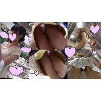 【パンチラ】キレイな姉さんとショップ店員のコラボパンチラ