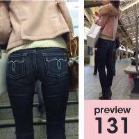 【131】大好物盛りだくさん!幕の内弁当的長身脚長スレンダーピチピチマウジージーンズ女子(後編)