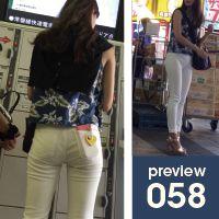 【058】息をのむほどにスタイリッシュ!長身スレンダー白スキニーパンツ女子(前編)