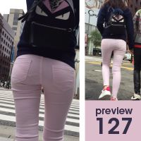 【127】どこで一時停止してもクロッチクッキリの金太郎飴状態!ピチピチスキニーパンツ女子vol.2