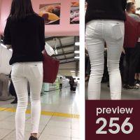 【256】清潔感の中にうっすらとちりばめられたエロス!女子アナ系ピチピチ白スキニーパンツ女子