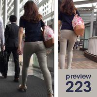 【223】発狂確実!この薄皮ピタピタ感はたまらない!スレンダー系スキニーパンツ女子