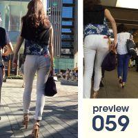 【059】息をのむほどにスタイリッシュ!長身スレンダー白スキニーパンツ女子(後編)