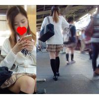 【電車対面鞄カメラ】 素敵少女の対面パンチラ 【FHD動画】