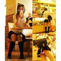 帰宅途中 売店にてコロッケを買う美少女 パンチラ ロング動画【HD】