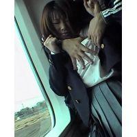 美少女JKをストーカーして電車で痴漢,車内トイレでレイプ生フェラ! 1