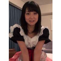 【コスプレ・自撮り】メイド服着たロリータ系の彼女とのセックスの1日