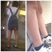 女の子の健康的な脚