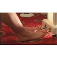 美形メイドの裸足でピアノ&足踏みオルガン踏み踏み