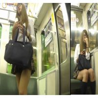 no.2電車中までしつこく密着!ばっちりパンチィーGET(笑)