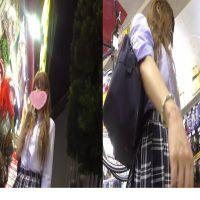 no.1某有名大型雑貨店にて買い物中かわいいガールを密着盗撮!パンチラGET!!