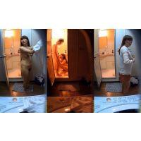 デリ嬢働く姿 23歳可愛い女の子 着替えと風呂場でフェラ