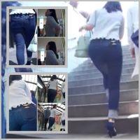 tight jeans girls9(FHD)フルバージョン/タイトジーンズのデカ尻ギャルのショッピングに密着追跡!!