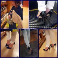 お姉さまのSEXYハイヒール2/スキニーデニムを履いたスレンダー美人のハイヒール脚にもう釘付け!!part1,part2set