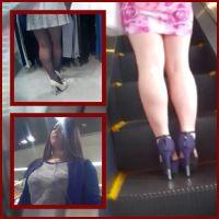 美脚ギャルストーカー14/二人のグラマーギャルのミニスカから伸びるセクシーなムチムチ美脚に大興奮!!