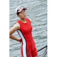 水上の可憐なボート女子2015-AJR2