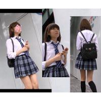 ロリ顔JKの真っ白おパンツ盗撮映像!!
