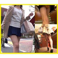 【4K】笑顔かわいい美脚キャバ嬢?ちゃん♫♫ぷりっぷりなお尻とサテンオレンジp盗撮(後編)