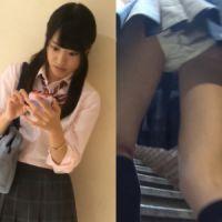 【盗撮】☆プレミア☆激ミニ&激カワイイJKの超接写パンチラ!