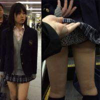 【盗撮】☆S級☆ロリカワ制服女子のスカートめくり!バレた!?
